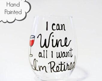 Retirement wine glass, Retirement Gift for Women, Funny retirement Gift,  Wine Glass Retirement, Retirement Party Gift, I'm retired Wine
