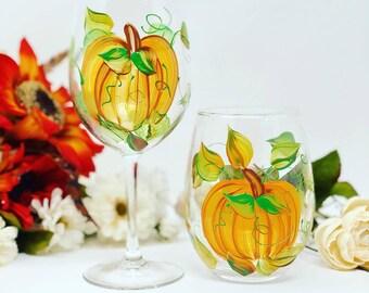 Fall Wine Glasses