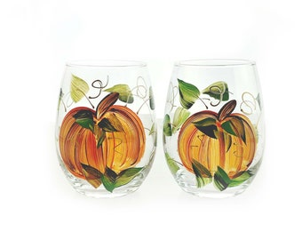 Fall Wine Glasses