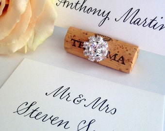 Wedding Escort Cards - Place Cards - Name Cards - Custom Calligraphy - Envelope Addressing Also Available - Pricing starting at: