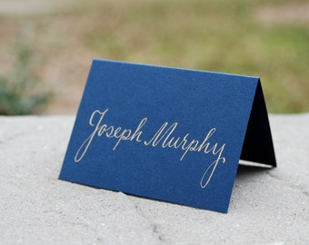 Wedding Table Name Cards - Hand Calligraphy - Escort Cards - Placecards - Wedding Table Numbers and Envelope Addressing Also Available