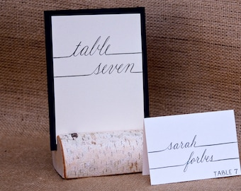 Wedding Table Numbers - Coordinating Hand Calligraphy for Wedding Name Place Cards & Escort Cards and Envelope Addressing Also Available