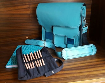 Jupiter Teal Messenger/ Laptop Bag