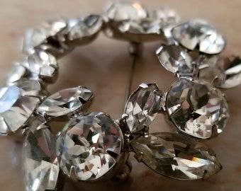 Vintage Regency Crystal Brooch.