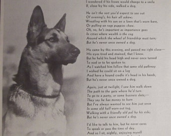 HE Never OWNED A DOG Original Father's Ideals Print Gift For Dad Christmas Gift Father's Day Ready To Frame Additional Prints Ship Free