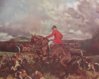 THE HUNT By Gilbert S. Wright Original Father's Ideals Print Gift For Dad Christmas Gift Father's Day Present Ready To Frame