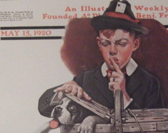 THE STOWAWAY Print By Norman Rockwell For The Saturday Evening Post Bookplate 1920 Ready To Frame Additional Prints Ship FREE!