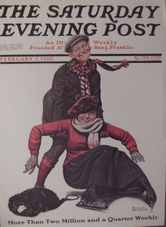 Choosin up  by Norman Rockwell   Paper Print Repro