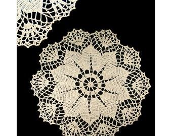 Vintage Ecru Round Crocheted Doily