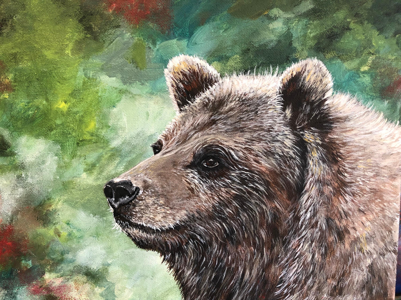 Polar bear Watercolor painting art print abstract sprit animal bear art