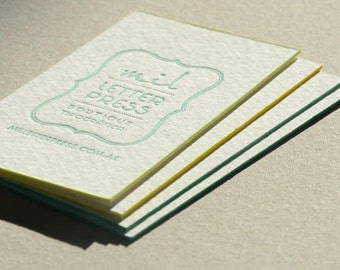 Letterpress business cards etsy popular items for letterpress business cards colourmoves