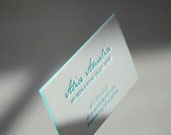 Painted edge cards etsy letterpress business cards crane lettra paper 600 gsm 1 color color edges colourmoves