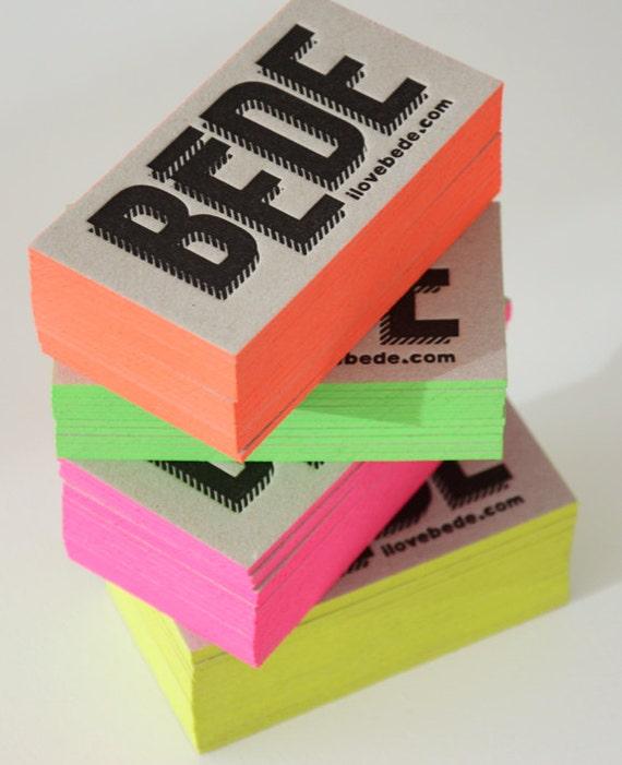 150 Buchdruck Visitenkarten Grau 2 Mm Super Dicker Karton Bemalte Kanten