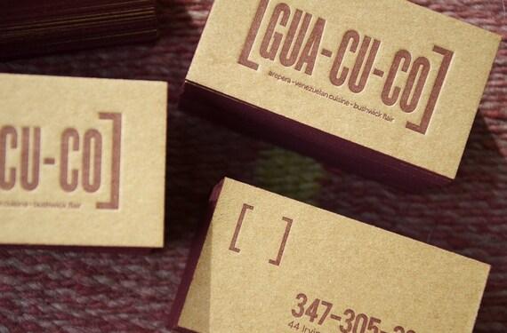 150 Buchdruck Visitenkarten Braun Kraft 1 5 Mm Dicker Karton 1 Farbe Vorne 1 Farbe Zurück Bemalte Kanten