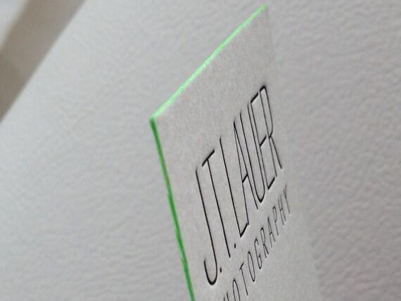 100 Cartes De Visite Typographie 1 Couleur