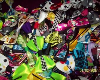 20  Handmade hair bow lot!