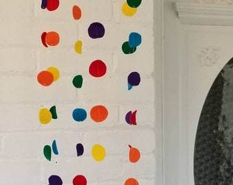Simple Rainbow Felt Dot Mobile for your Baby's Room
