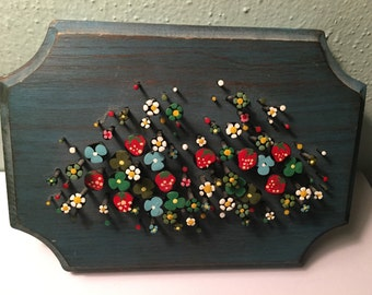 Vintage Nailhead Painted Flowers, 1981