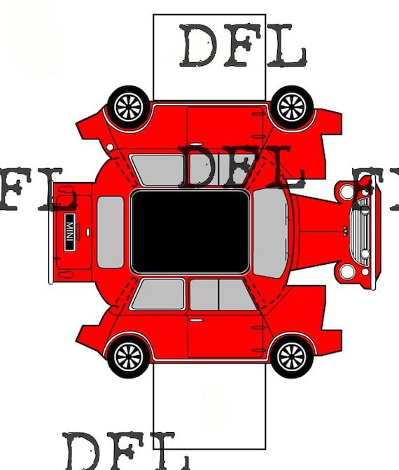 Paper Folding Origami Car Mini Cooper Etsy