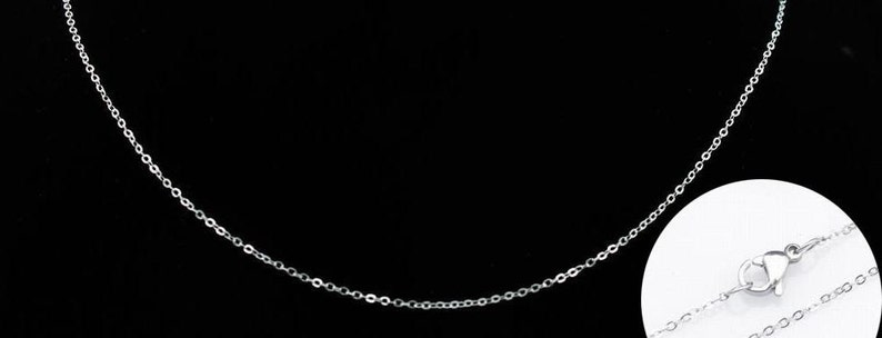 Gracile Cross Stainless Steel Chain BULK CHAIN Necklace Chain 24inch 1.2mm Jewelry Chain 20pcs