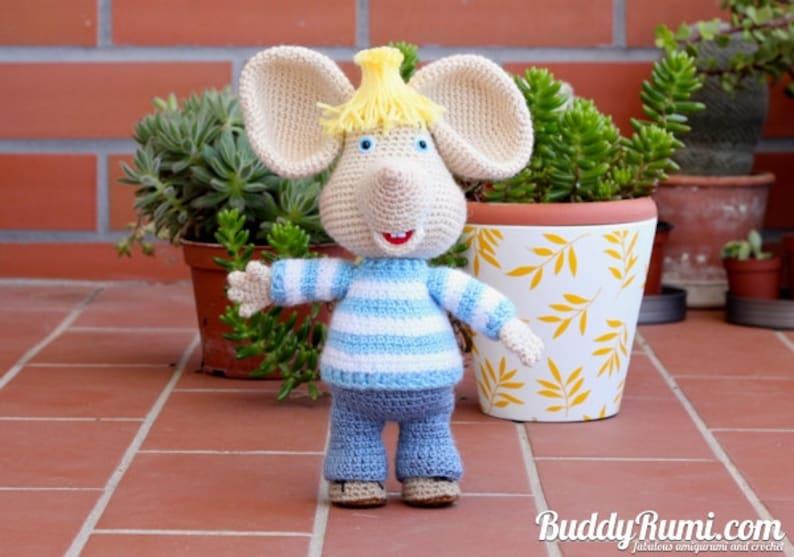 PATTERN: Amigurumi crochet mouse Topo Gigio Amigurumi Crochet image 0