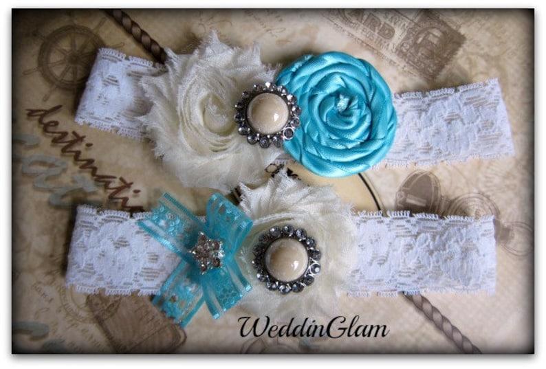 wedding garter  aqua blue garter  bridal garter lace garter  victorian weddding  Something BLue  vintage inspired lace garter