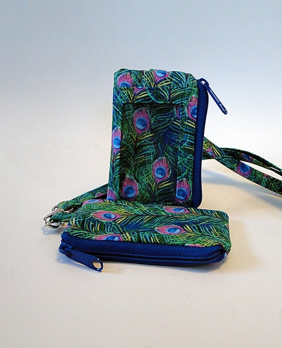 Coin Purse The Peacock Peacock Feather Spainting wallet change Purse with Zipper Wallet Coin Pouch Mini Size Cash Phone Holder