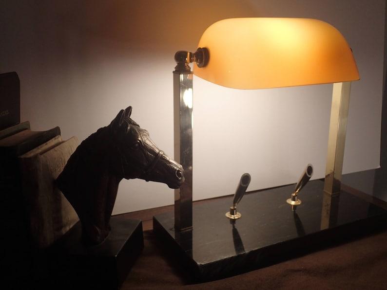 Avocat De Lampe De Bureau Art Deco De Banquier Tube Etsy