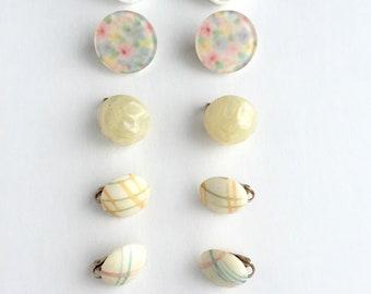 Vintage Clip On Earrings-Group of 6