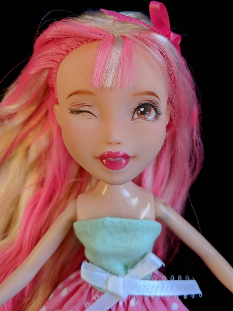 c46ce578df5bb1 Repainted Bratz Doll Upcyled Make Under Custom Doll Repaint