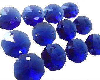 Cobalt chandelier etsy 50 cobalt blue chandelier crystals beads octagons prisms 14mm aloadofball Choice Image