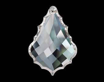 Chandelier crystals etsy 5 clear diamond cut french chandelier crystals 50mm asfour lead crystal aloadofball Choice Image