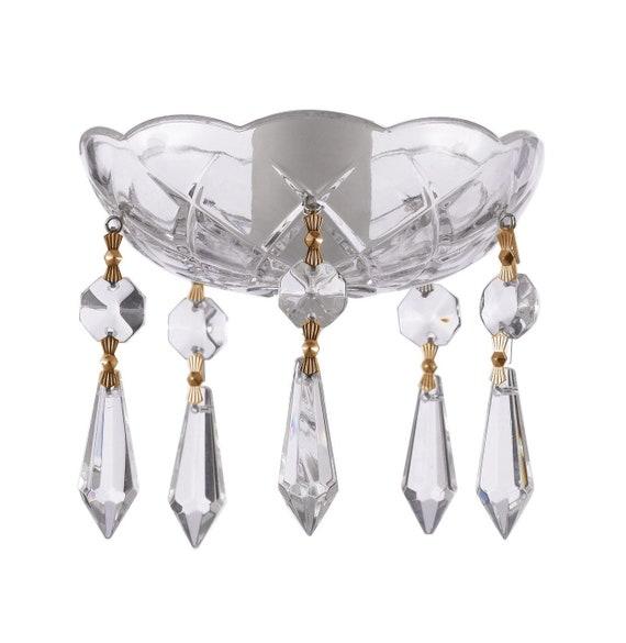 5 Fuchsia and Black Teardrop Ornaments Chandelier Crystals Hot Pink Pendants