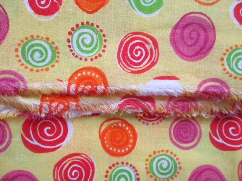Lime Quilt Fabric Orange Candy Peppermint 1 yd Yellow Pinwheel Lemon