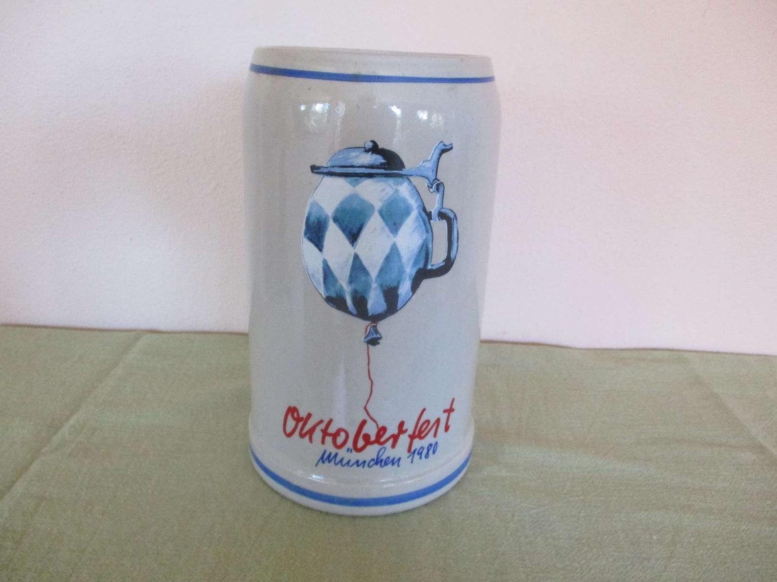 Vintage Oktoberfest Munchen 1980 Beer Stein, Signed Fritz Dommel
