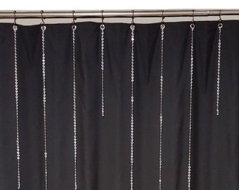 NEW And STUNNING Single Strands Beaded Shower Curtain Ring Charms With 12 Mid To Long Length Vertical