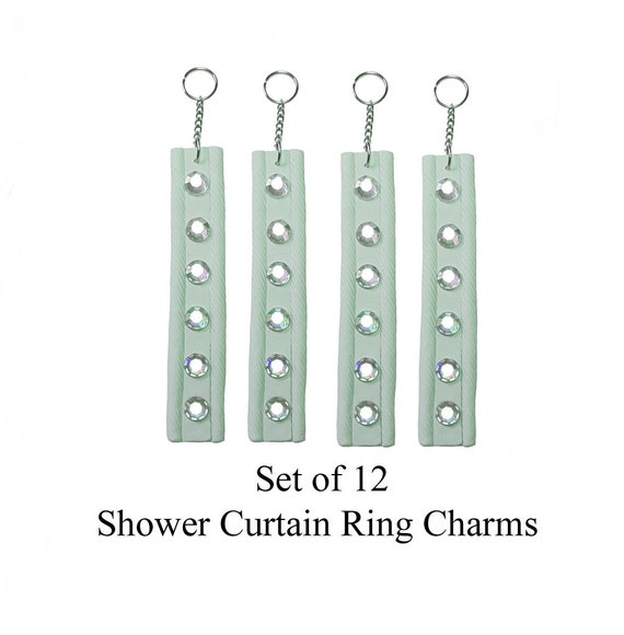 Decorative Shower Curtain Ring Charms Gem Strips