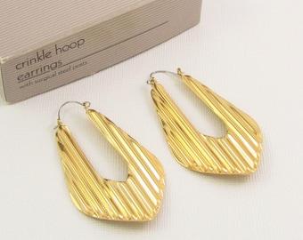 Avon Brown And Cream Enamel Reversible Pierced Earrings