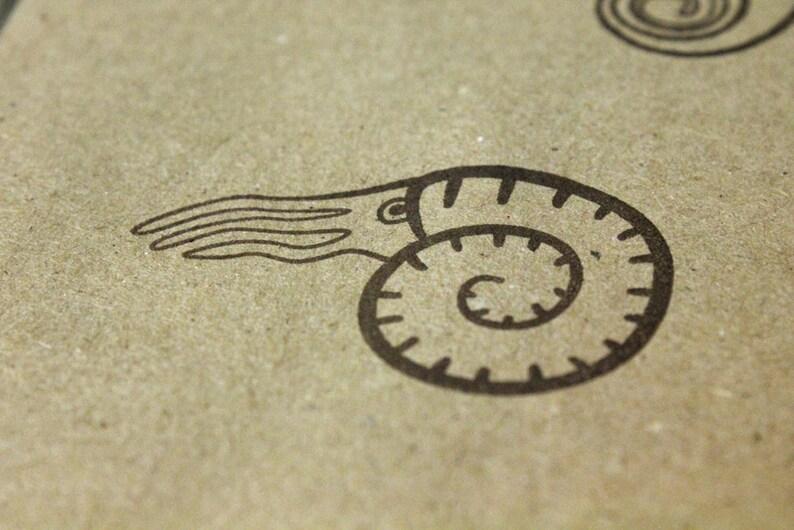Nautilus Rubber Stamp