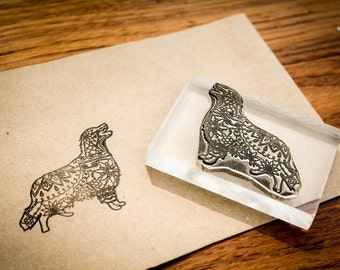 Custom Fine Art Rubber Stamp - 5 x 4