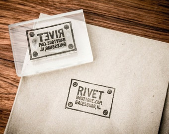 Custom Acrylic Rubber Stamp - 4 x 4 Inches