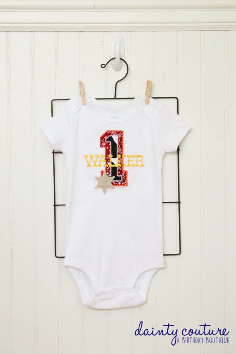 57e73c6a6 Western Birthday Party shirt or onesie Red bandana cow   Etsy
