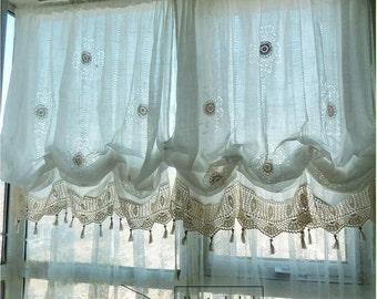 Shabby Chic Curtains Etsy Rh Com Dining Room Cottage