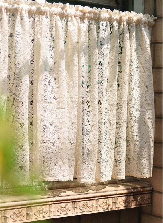 Lace Cafe Curtains Kitchen Custom Inspiration