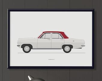 Holden HR Special file, classic Australian car art gifts for guys, boys bedroom decor, retro HR Holden memorabilia art