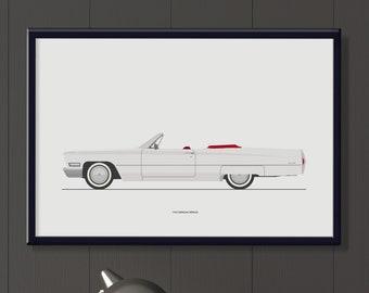 1968 Cadillac deVille file, classic American car artwork