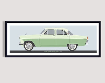 Fine Art Print A4 size picture FORD ZEPHYR 6 MkIII