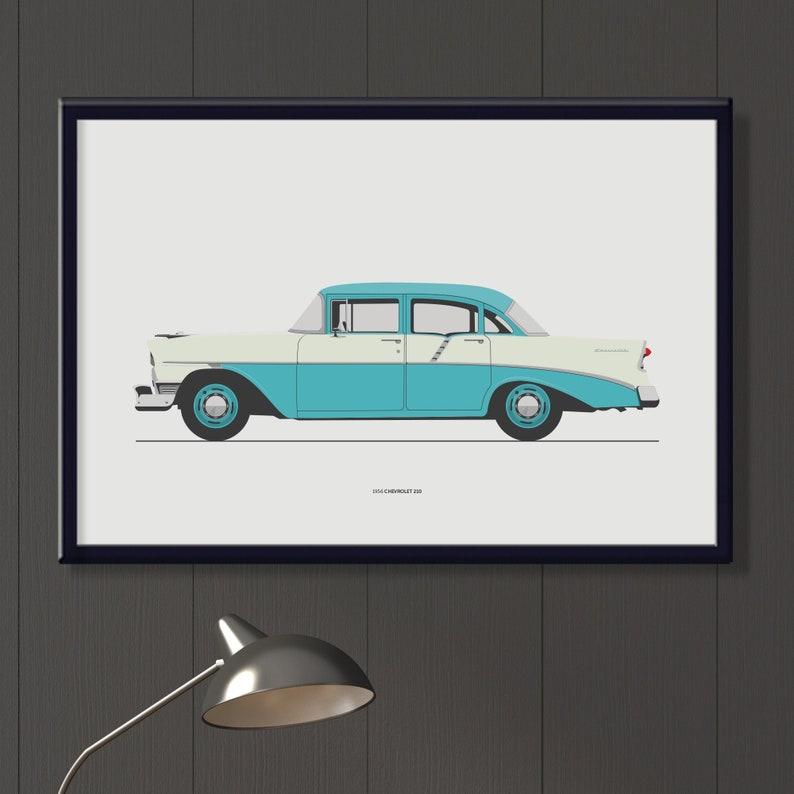 1956 Chevrolet 210 4 door file retro blue vintage Chevy image 0
