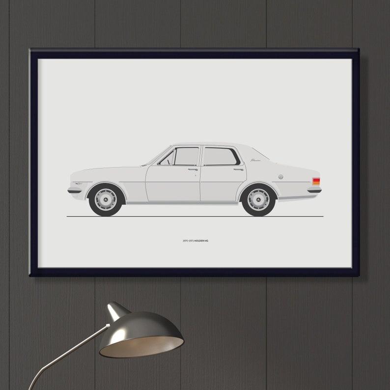 Holden HG Premier file classic Australian car art boys room image 0