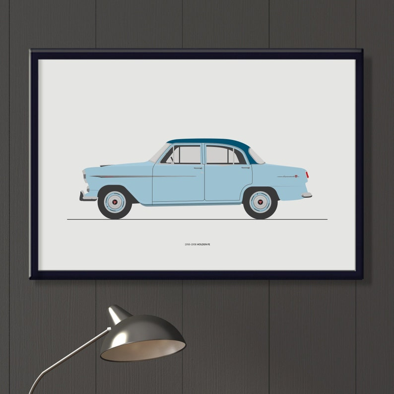 Holden FE Special file classic Aussie car art boys room image 0